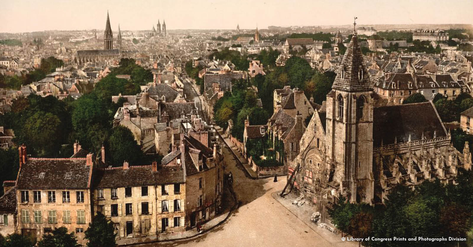 Caen image colorisée_©Library of Congress Prints and Photographs Division_L'Happy mensuel