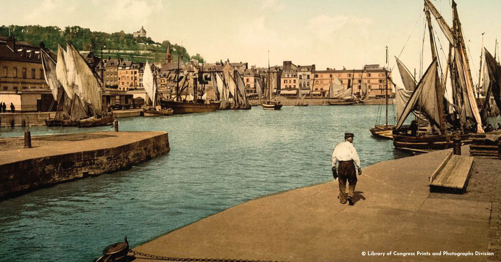 Honfleur image colorisée_©Library of Congress Prints and Photographs Division_L'Happy mensuel